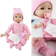 reborn doll 55cm soft silicone dolls for girls lol corpo de munecas  baby surprise