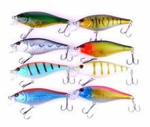 Купить с кэшбэком 8Pcs Diving Fishing Lures Crank Bait Wobblers 95mm 14.6g Hard Bass Bait Catfish Carp Trout Perch Artificial Fishing Tackle