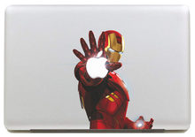 Emitting laser Iron Man Decalcomania Del Vinile Autoadesivo per DIY Macbook Pro/Air 11 13 15 Pollice Copertura Della Cassa Del Computer Portatile Sticker(China)