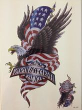 ARRIVAL 21 X 15 CM Flag And Eagle Temporary Tattoo Stickers Temporary Body Art Waterproof#127