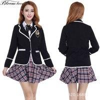 British Style Uniforms For School Girls Korean Japanese High School Uniform Autumn Winter Students Clothing Shirt