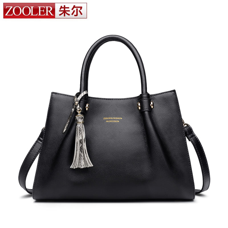 ZOOLER New Design Bag High Quality Genuine Leather Handbag Brief Women Business Shoulder Bags Crossbody Female Bags Party Bag