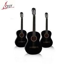 "New 39"" Beginner Classical Guitar 6-Strings Black Practice Guitarra Nylon Strings with Backpack, Capo, Picks"