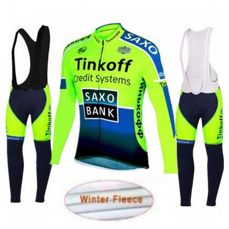 Шерсть в зима, чтобы согреться Тинькофф профессиональная команда с длинным рукавом Джерси езды на гоночный велосипед одежда MTB Ропа ciclismo велосипед велосипед с