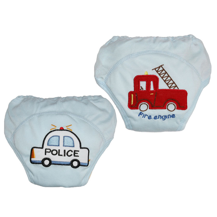 2pcs / lot 4 couches lavables bébé formation de toilette formation couches lavables garçon shorts fille sous-vêtements infantile pee apprentissage pantalons couches # 005