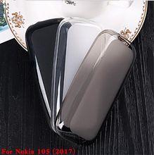 Transparente de Silicone Macio TPU Tampa Do Telefone de Volta Caso Para Nokia 105 2017 Pudim Gel Suave TPU Shell