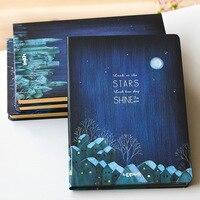 Stars Shine Big Hard Cover Beautiful Journal Lined Freenote Diary Study Notebook Stationery Gift