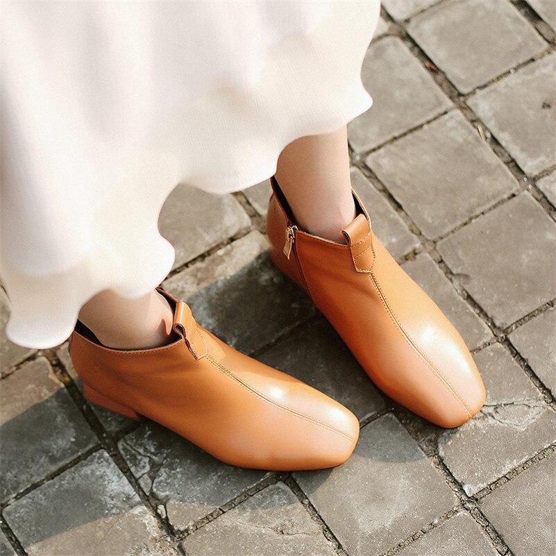Las Con gris Otoño Mujeres Negro Fedonas Básicas Conciso Alto Cálido De Mujer Botas Cuero Cremallera Genuino Tacón Invierno Zapatos 1 blanco Oficina Moda La marrón aqxgtExz