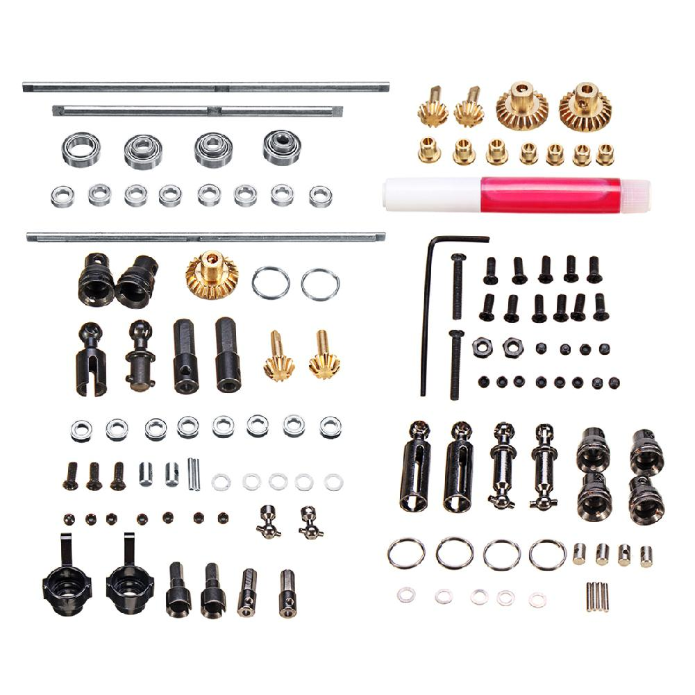 LeadingStar DIY Parts for WPL 1/16 6WD RC Car Military Truck Upgrade Metal OP Accessory Set