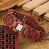 Reloj de pulso en madera completo colores 4
