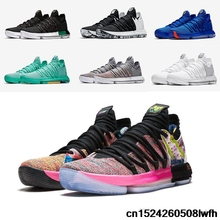 a1eda1441cb KD 10 Basketball Shoes black City Edition What The Red Velvet Platinum  multicolor Hyper Turquoise Kevin