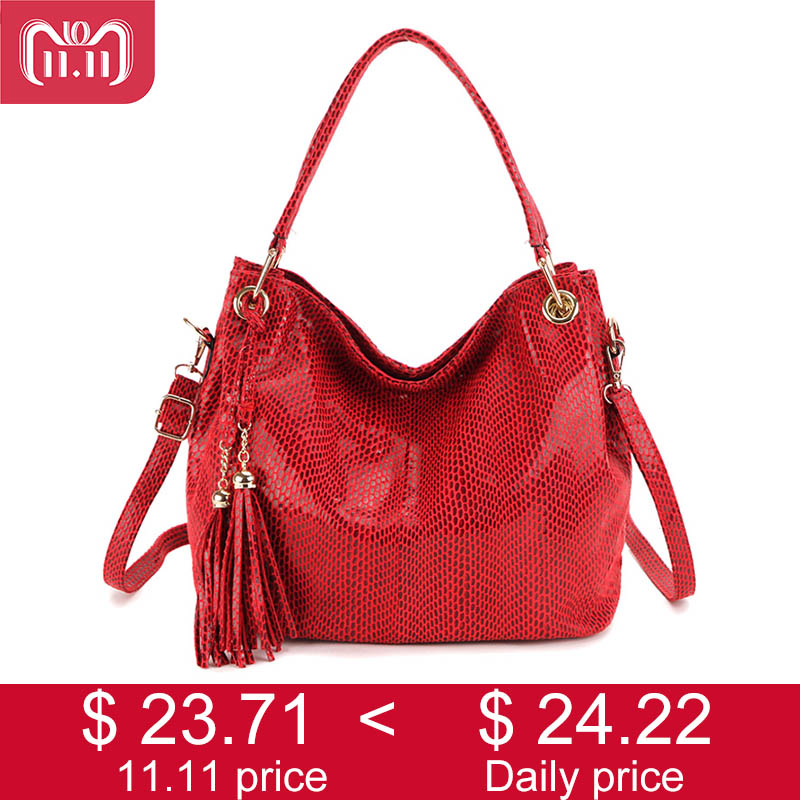 SMILEY SUNSHINE Tassel Women Bags Hobo Female Red Leather Handbags Purses Ladies Shoulder bags Big Crossbody Bags for Women 2018 2in1 pu leather shoulder bags female crossbody bags for women wallets and purses with card holder fashion ladies handbags