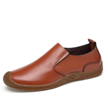 Fotwear Men Leather Casual shoes Spring Summer Fall Business Loafers Slip-Ons Classic Durable all-leather uppers