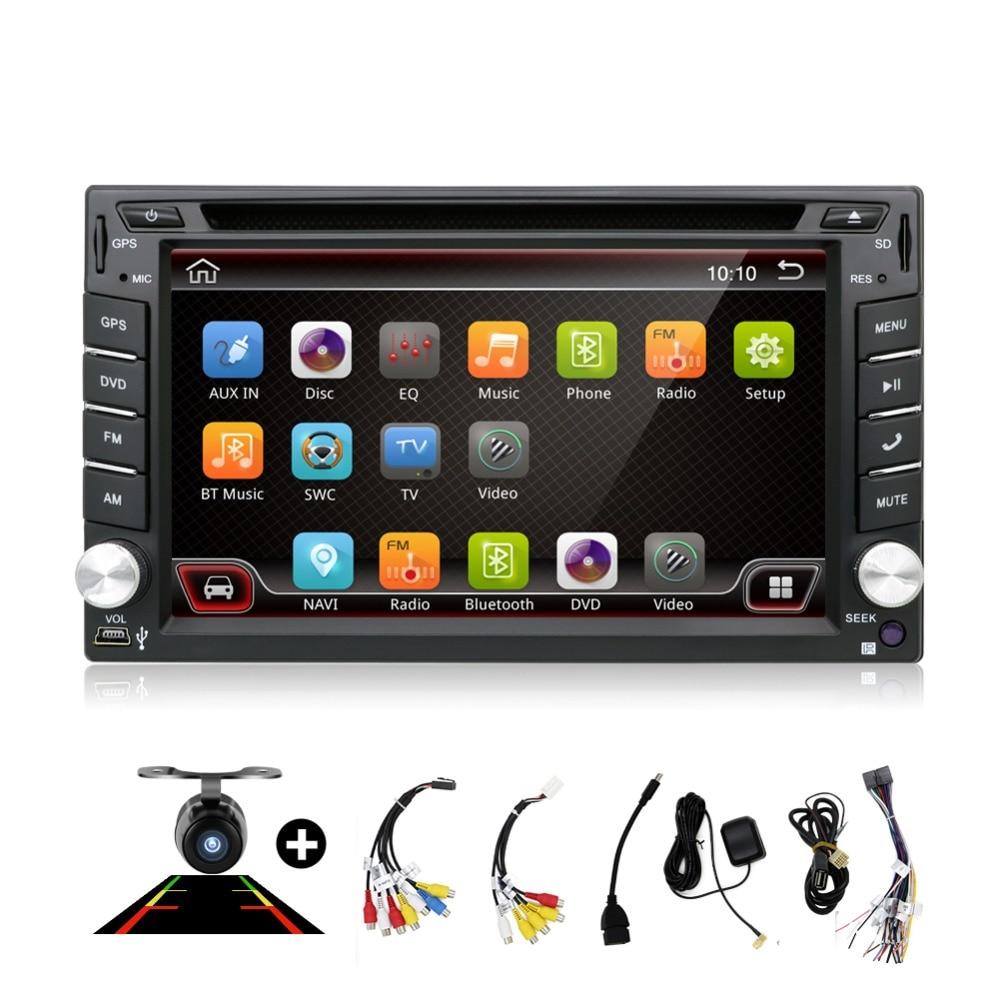 Universel 2 din Android 7.1 Quad 4 Core lecteur DVD de voiture GPS Wifi BT Radio BT 2 GB RAM 16 GB ROM 4G SIM LTE réseau