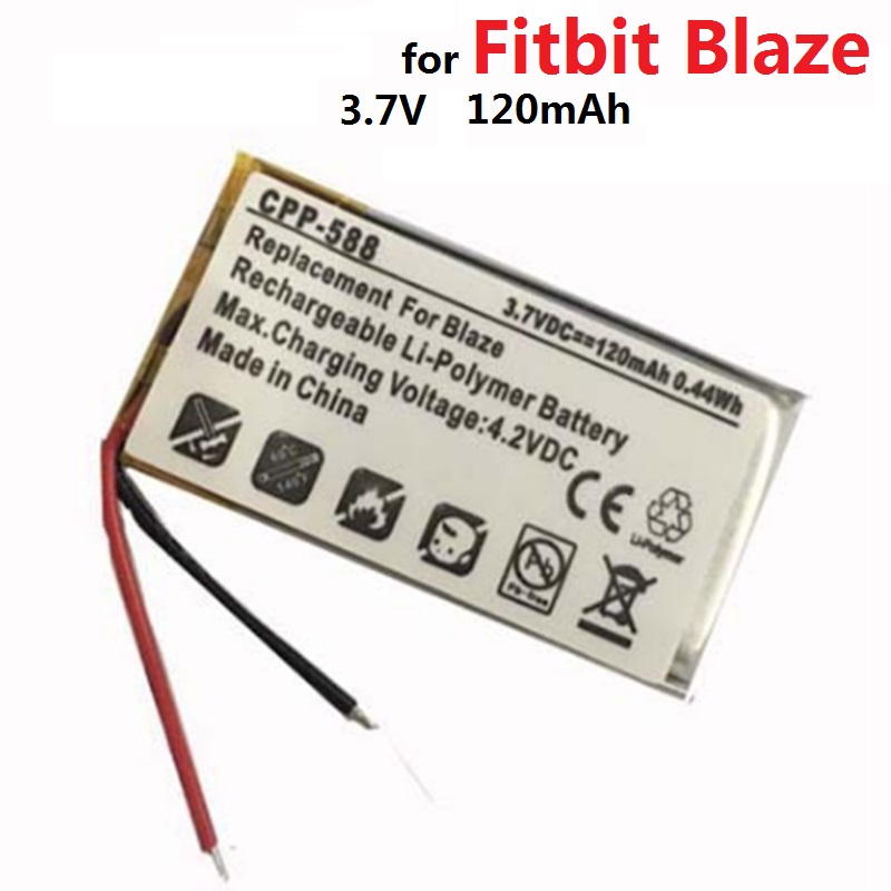 LSSP321830 Battery for Fitbit Blaze Smart Watch 3 7V 120mAh New Li Polymer Rechargeable Batterie Pack