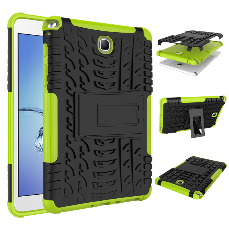 Heavy Duty Impact TPU+PC Hybrid Armor Kickstand Hard Cover Case For Samsung Galaxy Tab A 8.0 Inch T350 T355 Tablet Cases