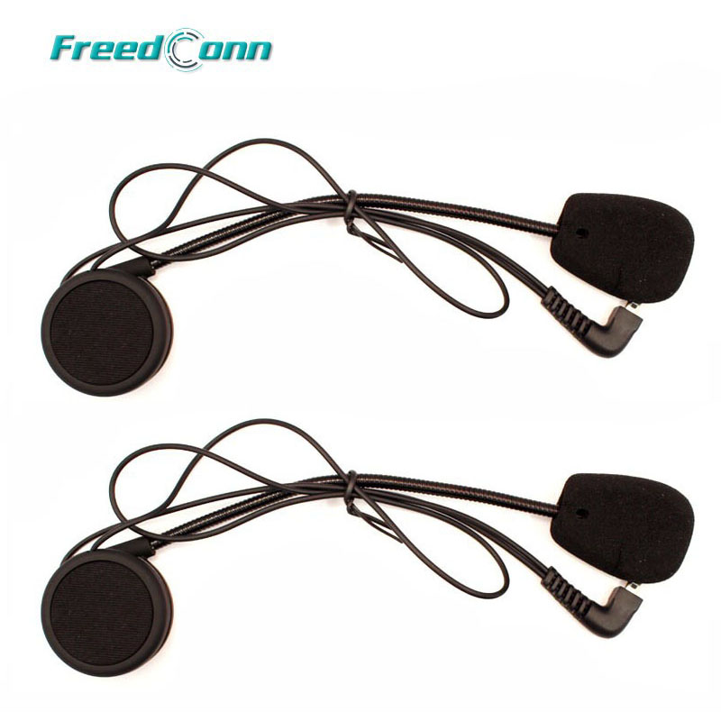 2 Satz Kopfhörer Mikrofon Zubehör fest Kopfhörer Anzug für T-COMFM T-COMSC FDC-01VB COLO TCOM-02 Motorrad Helm Intercom