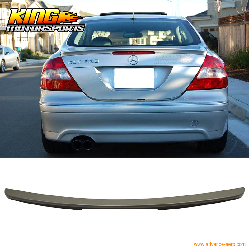 For 03-08 Benz CLK Class <font><b>W209</b></font> 2Dr Coupe AMG Style UnPainted ABS Trunk <font><b>Spoiler</b></font> image
