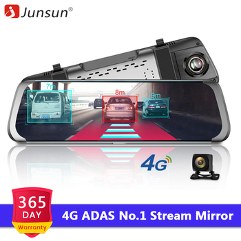 Junsun 4G Car DVR 10 Stream Media Rearview Mirror Dual Lens Video Recorder Full HD 1080P Dash cam Android 5.1 WiFi GPS ADAS front lip for lexus gs350