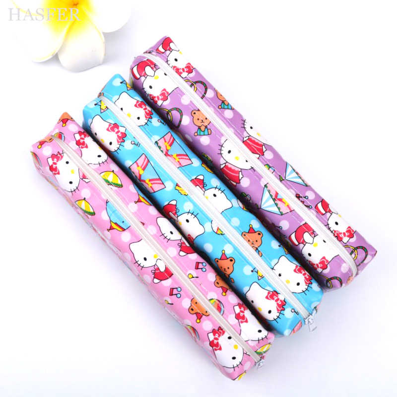 5603cd8446 ... Cartoon Hello Kitty pencil case for girls Cute PU Leather pen bag for  kids gift Korea ...
