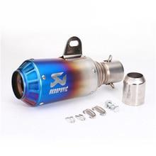 цена на Universal 36mm 51mm Motorcycle Exhaust Pipe Akrapovic for BMW KTM 990 DUKE ER6N ER6R YZF600 TTR CBR CB400 CB600 CBR600 CBR1000