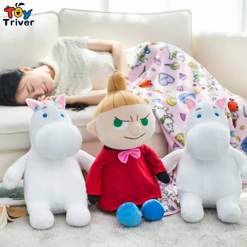 ФОТО Cartoon Moomin Valley Little My carpet portable blanket reelable baby shower car Air condition travel rug doll Triver Toy