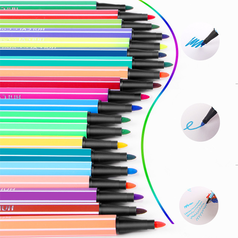 36 Color Premium Painting stiff Brush Pen Set Watercolor Markers Pen Effect Best For Coloring Books Manga Comic Calligraphy 20colors paint brush painting soft brush pen set watercolor markers pen effect best for coloring books manga comic calligraphy