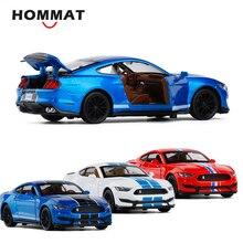HOMMAT 1:32 סולם פורד מוסטנג Shelby GT350 צעצוע מכונית דגם Diecasts & צעצוע כלי רכב סגסוגת מתכת דגם רכב מתנות צעצועים לילדים