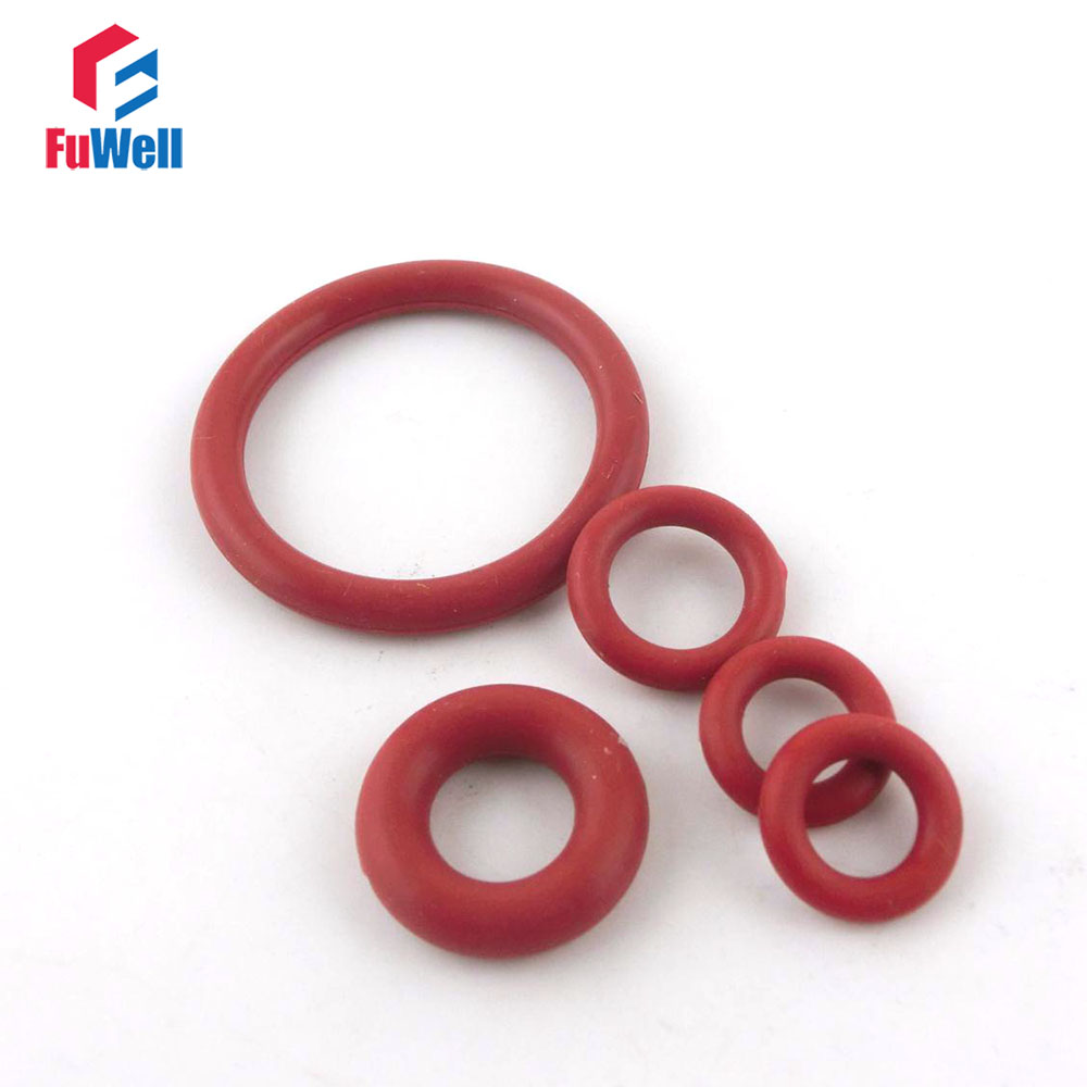 200pcs Red Silicon Rubber O-rings 2mm Thickness 17/18/19/20/21/22/23/24/25/26/27mm OD Heat-resistance O Ring Seals Gasket o ring for eheim 2213 and 2013 canister filters red