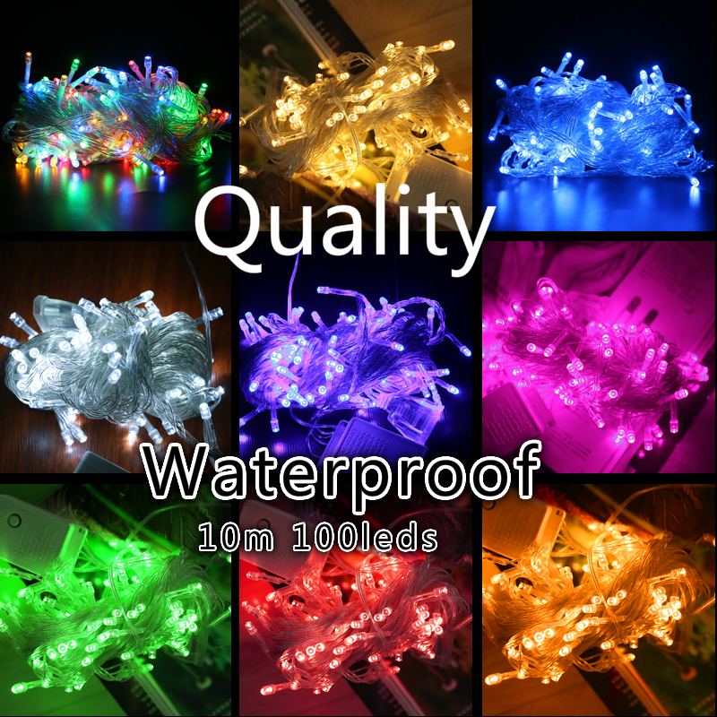 10M Waterproof 110V/220V 100 LED holiday String lights for Christmas Festival Party Fairy Colorful Xmas LED String Lights все цены