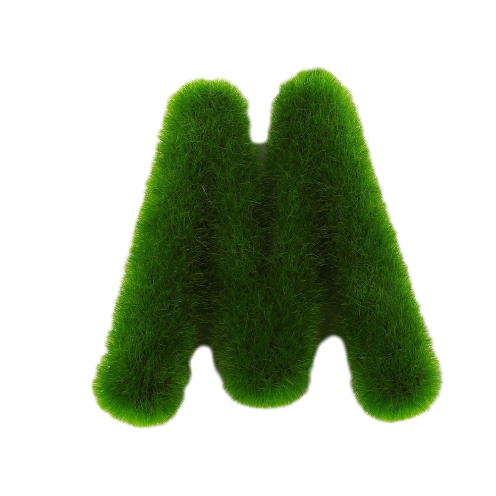 Буквенные предметы интерьера искусственный газон письмо искусственный газон украшение 26 слов ремесленный дом окно креативный - Цвет: M