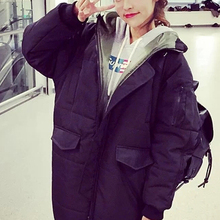 new arrive super warm girl and boy long Down Parkas Thick winter coat clothes Filling down cotton fashion brand IT