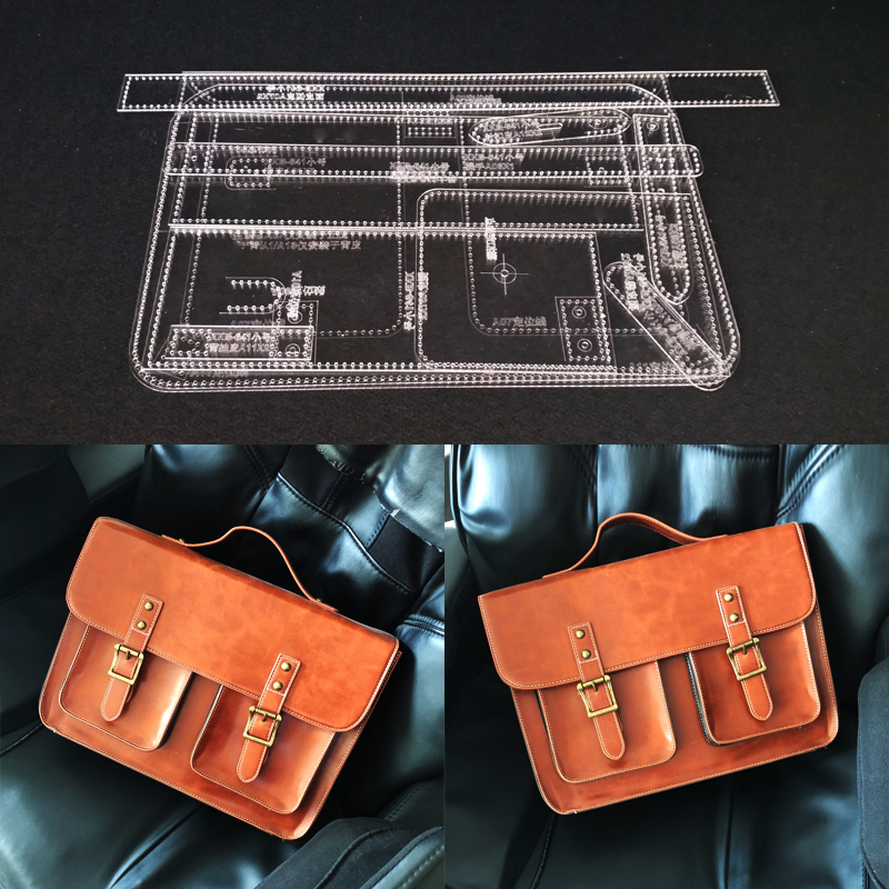 1set DIY Acrylic Leather Template Home Handwork Leathercraft Sewing Pattern Tools Accessory Shoulder Bag 230x300mm