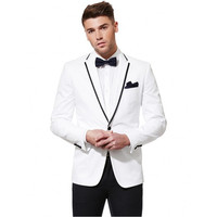 Custom Made New Groomsmen Notch Lapel Groom Tuxedos Center Vent Mens Suits Wedding Best Man Suit