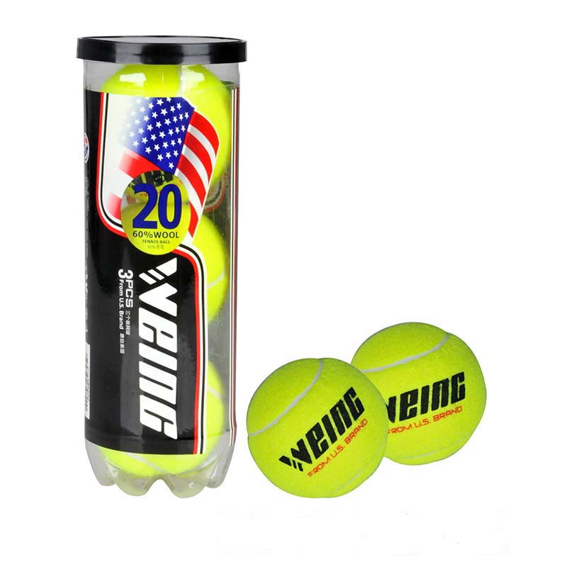WEING Brand Quality Tennis Ball For Training 100%  Synthetic Fiber Good Rubber Competition Standard Tenis Ball