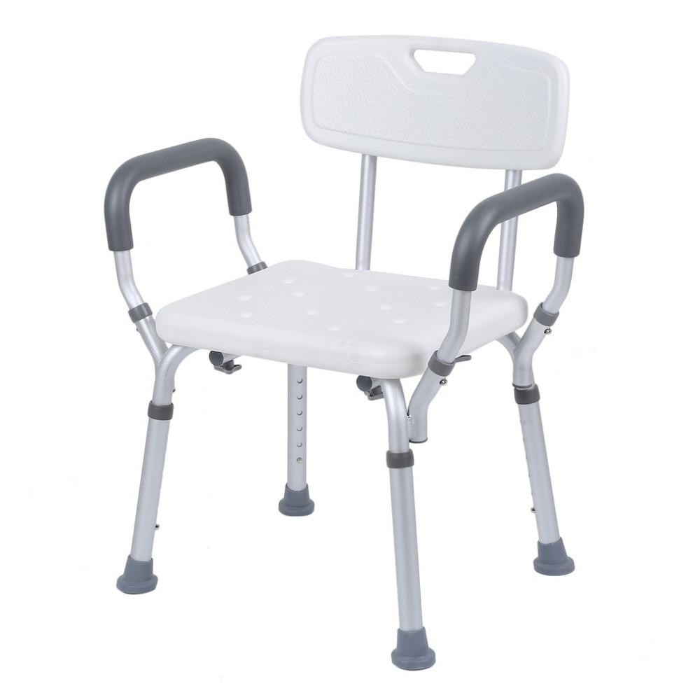 Adjustable Height Medical Medical Aluminum Shower Chair Bathroom Aid ...