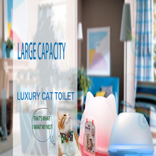 Plastic Large Indoor Durable High Quality Cat Toilets Resistant Bite Durabilidad Safe Cats Litter Cat Tools Pet Supplies 60Z1947
