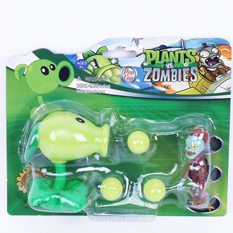 Box Plants vs Zombies chomper pea sunflower Fire Bullet Peashooter toys for Kid 2016 New Plants vs Zombies decorations figures kid s box 2ed 6 pb