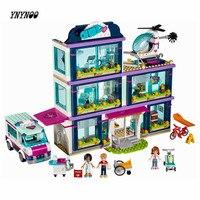 YNYNOO Lepin 41318 Heart Lake Love Hospital 932 Pcs Mini Bricks Girls Friends Series Set Sale