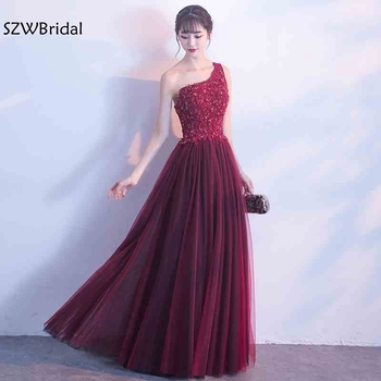 New Arrival One shoulder Long prom dresses 2020 Formal dress elegant Vestido longo gala jurken Ballkleider lang Prom dress