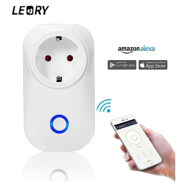 LEORY Smart Wifi Prise Interrupteur ROYAUME-UNI US EU Plug Sans Fil Télécommande Alexa Google Voice Contrôle Calendrier SUR/Off Pour téléphone