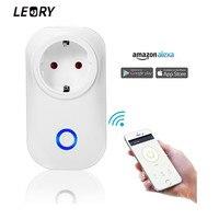 LEORY Smart Wifi Socket Switch UK US EU Plug Wireless Remote Control Alexa Google Voice Control