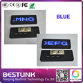 blue scrolling screen LED name badge business card tag display sign Programmed 7*21 dots led name tag mini led sign