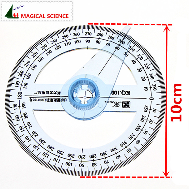 360-degree Circle Protractor For Primary School Students
