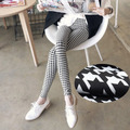 New arrival Spring autumn Slim milk silk plaid fabric leggings Houndstooth lady Leggings Sexy leggings Free Shipping