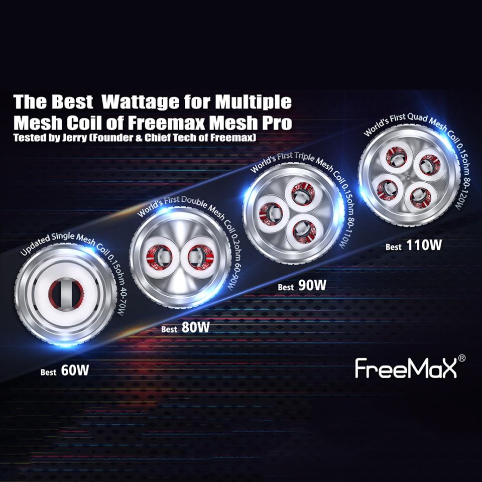 3pcs/lot Original Freemax Mesh Pro Tank Coil Mesh Core Head Single 0.15ohm Double 0.2ohm Triple 0.15ohm Quad 0.15ohm For Freemax