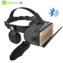 BOBOVR Z5 Wireless version Bluetooth 120 FOV VR Virtual Reality Glasses Remote 3D Android Cardboard VR 3D Headset for Smartphone(China)