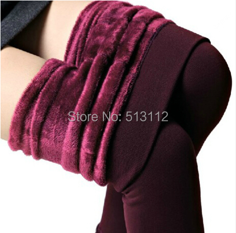 2016 plus cashmere leggings women girls Casual Warm Winter Faux Velvet Knitted Thick Slim Leggings Super Elastic KZ0003