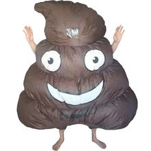 Women Men Inflatable Big Poop Costume Smiling Face Halloween Adults Party Carnival Cosplay Outfit Blow Up Fancy Dress Mascot