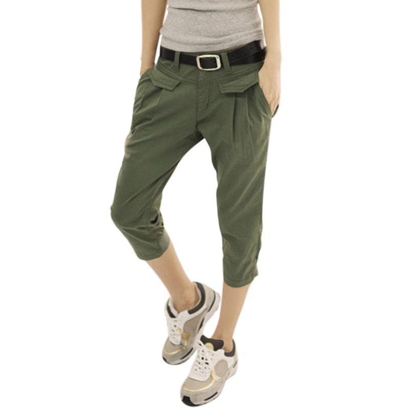 New 2018 Women Harem Pants Casual Cropped Trousers Harem Pant Women summer Fashion Overall Students black Pants